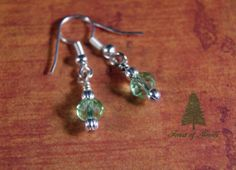 Peridot Crystal Earrings by ForestofJewels on Etsy, $18.00