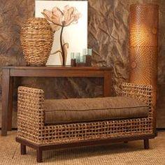 winner? Jeffan Dimitrio Abaca Fiber Bedroom Bench | Wayfair