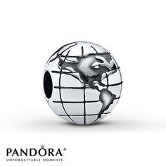 Pandora Clip Globe Sterling Silver represents Mike to the fullest!