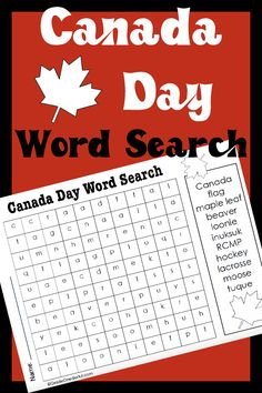 Canada Day Word Search Printable | Grade Onederful