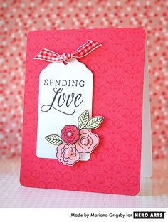 Create a simple, elegant Valentine for someone you love.