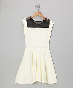 Look what I found on #zulily! Cheryl's Kids Creations Ivory Skater A-Line Dress by Cheryl's Kids Creations #zulilyfinds