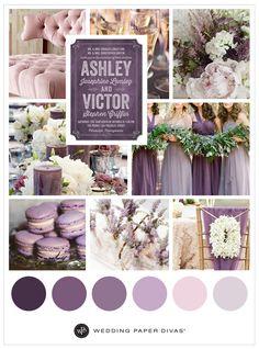 Purple Wedding Theme Ideas | Wedding color palette | Wedding Paper Divas | Affiliate link |