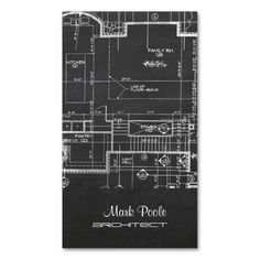 business cards architect | chalkboard architect blueprint business cards for the new architects ...