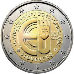 moneda conmemorativa 2 euros Eslovaquia 2014.
