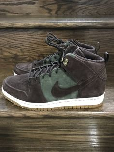 best sneakers b70d2 6534e New Mens Nike Dunk CMFT WB Army BrownOlive Suede Sneakerboot Shoe Sz. 11.5  ID 805995-300