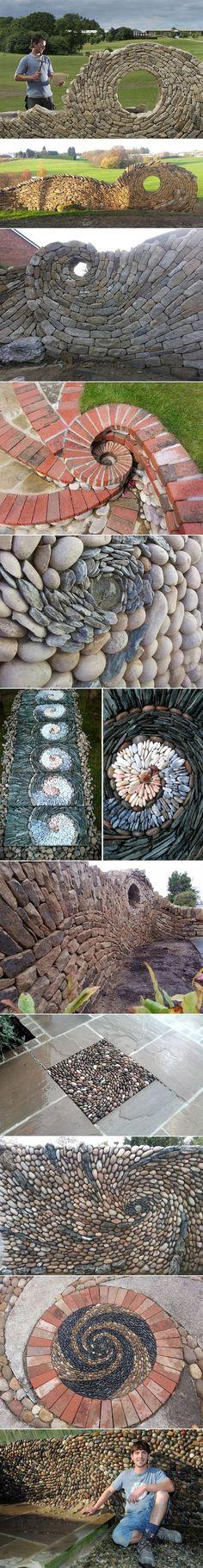 Flusssteine Gartenweg Verlegen Trittsteine Selber Machen | Diy ... Steinweg Im Garten Verlegen Inspirierende Ideen