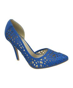 OH I WANT. This could go with dress I ordered... Blue Sonia Pump #zulilyfinds