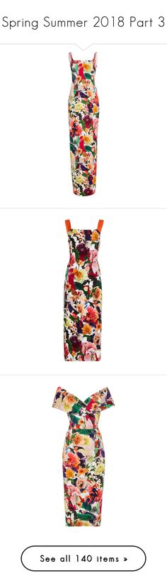"""Spring Summer 2018 Part 3"" by jckyleeah ❤ liked on Polyvore featuring PrabalGurung, cushnieetochs, ullajohnson, springsummer2018, jckyleaahss18, dresses, floral, floral day dress, scoop neckline dress and flower design dresses"