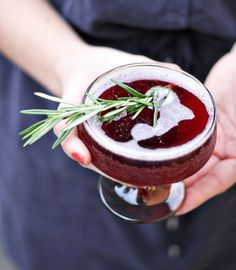 Rosemary Infused Holiday Cocktail by The Flair Exchange