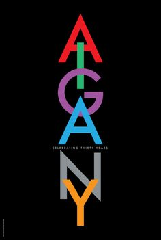 Tom Geismar: Signed AIGA/NY 30th Anniversary Poster 2012