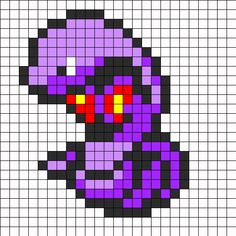 Perler Beads Patterns All Pokemon Fuse Bead Patterns, Kandi Patterns, Perler Patterns, Beading Patterns, Hama Beads Pokemon, Pokemon Craft, Diy Perler Beads, Nintendo Pokemon, Pokemon Sprites