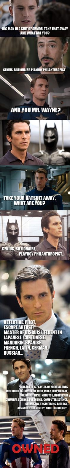LOVE THIS. 'Cuz he's Batman!