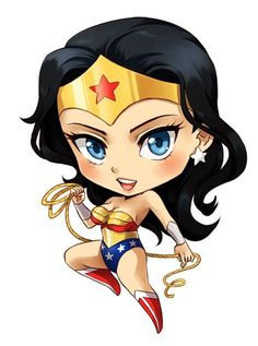Shop Wonder Woman Chibi wonder woman t-shirts designed by dyutiart as well as other wonder woman merchandise at TeePublic. Wonder Woman Chibi, Wonder Woman Art, Chibi Marvel, Marvel Dc Comics, Chibi Superhero, Marvel Heroes, Comic Book Characters, Comic Character, Super Heroine