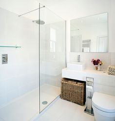 simple small bathroom