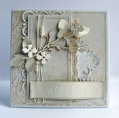 Dorota_mk: Świerszcz zagrał na weselu. Like the layers personal note on third layer, sentiments on band Memory Box Cards, Shabby Chic Cards, Engagement Cards, Scrapbook Cards, Scrapbooking, Beautiful Handmade Cards, Card Making Inspiration, Pretty Cards, Card Maker
