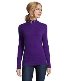 Hayden purple cashmere turtleneck sweater