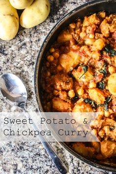 Sweet Potato and Chickpea Curry - Mess Makes Food - add cauliflower