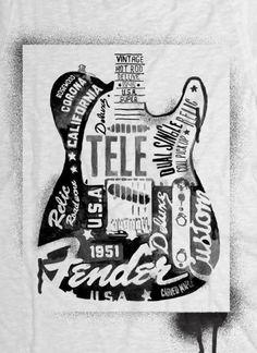 Inspiration | Vintage Fender Guitar Illustration By Glenn Wolk