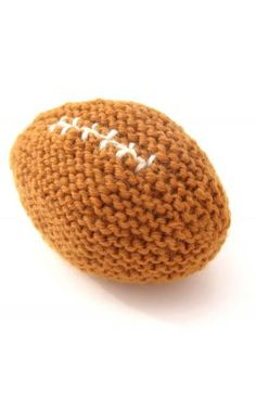 Baby's First Football Free Pattern - Free Knitting Patterns by Natty Knits
