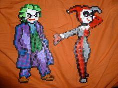 Joker and Harley Quinn Bead Art by Viannakil.deviantart.com on @DeviantArt