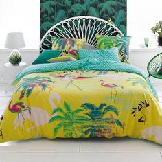 Flamingo Cotton Duvet cover La Redoute Interieurs