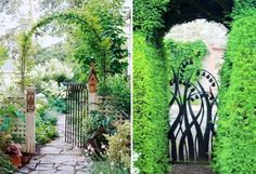 Portillon de jardin et portail– les premiers qui nous accueillent