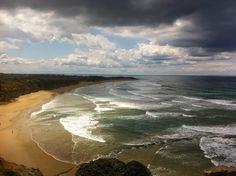 Jan Juc Victoria on a stormy morning.  #iphone #iphone5s #iphonephotography #ocean #janjuc #waves #bay #surf #thephotosociety #worldnomads #thatsdarling #passionpassport #natgeoyourshot #natgeo #adventurevisuals #globalpixels #justgoshoot #huffpostgram #liveintrepid #lonelyplanet #greatoceanroad by ahann4 http://ift.tt/1X8VXis