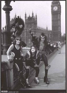 An awesome poster of Detroit Rock City rockers KISS in London in 1976! Ships fast. 24x33 inches. Rock n' roll all night and party every day with our incredible selection of KISS posters! Need Poster M