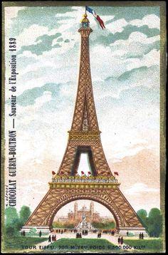 Art - Advertisement - Chocolate Guerin-Boutron - Eiffel tower