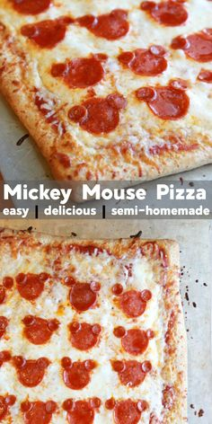 If your kids can't enough of their favorite mouse, surprise them with this super easy to make Mickey Mouse Pizza. OMGoodness, y'all – it's so cute and so tasty! recipes for kids Disney Desserts, Disney Snacks, Disney Recipes, Mickey Mouse Desserts, Mickey Mouse Food, Minnie Mouse, Mickey Cakes, Disney Themed Food, Disney Inspired Food