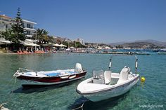 a famous beach resort 10 km out of in the - Famous Beaches, Beach Resorts, Greece, Boat, Boats, Grease