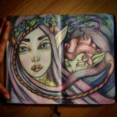 Fairies #artwork #sketch #drawing