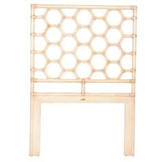 David Francis Furniture Honeycomb Open-Frame Headboard Size: Queen, Finish: Dark Honey