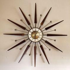 Elgin Atomic Starburst Clock on Chairish.com