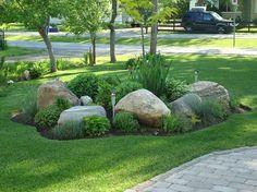 Front Rock Garden - Great Yard Ideas