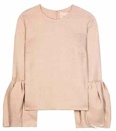 Wool and silk-blend blouse | Roksanda