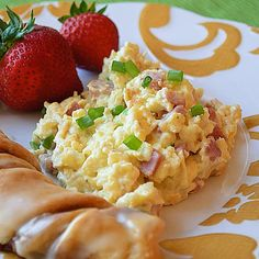 Huevos revueltos con jamon
