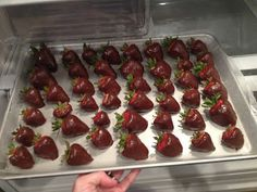 Easy Chocolate Covered Strawberries. Had enough chocolate to make chocolate covered pineapples and chocolate covered blueberries. Yum!!