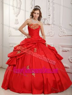Sweetheart Red Dresses for Quince