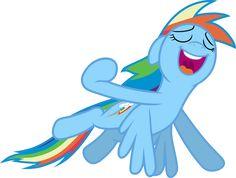 Mlp Fim Rainbow Dash (i Can Fly...) Vector by luckreza8