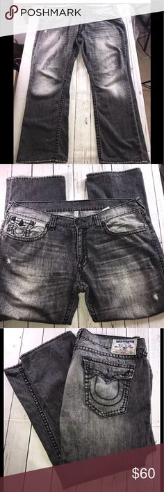 TRUE RELIGION JEANS 42x30 MENS STRAIGHT TRUE RELIGION JEANS MENS STRAIGHT JEANS Size 42 X 30 If you have any questions, please ask and I will answer as soon as possible. If you purchase the item and there is a problem, please contact me immediately. I do my best work with you to correct it in a timely manner. Happy shopping! True Religion Jeans Straight