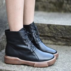 64df4ce33267 Artmu New Winter Original Ankle Boots Women Short Boots Martin Boots Thick  Sole Handmade Genuine Leather Boots Warm Plush Shoes