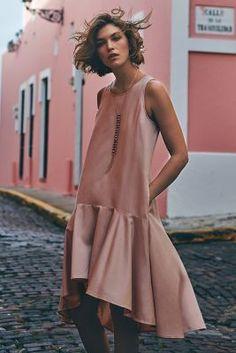 Maeve Camellia, Dropwaist Dress. Arizona Muse.