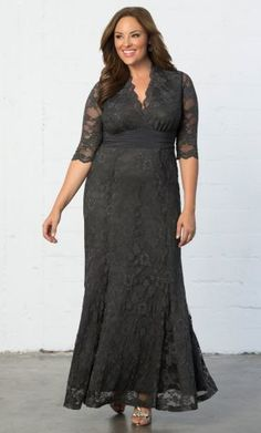 a46f3392b6244 Screen Siren Lace Gown. Kiyonna Clothing