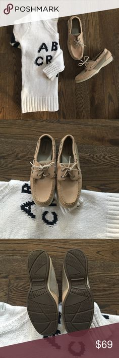 Host Pick Sperry Boat Shoe Sperry Intrepid Linen-Mesh Boat Shoes. Worn once! Like New - Excellent Condition!!! Sperry Shoes Moccasins