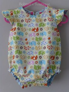 Baby Girl Clothing Reversible baby romper 3-6 months available at www.bobtailsboutique.net