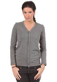 CARHARTT Womens Jersey Cardigan Jacket dark grey heather #planetsports
