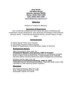 Resume Example  Example Of Cover