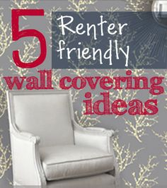 5+ ideas to cover an unsightly wall in a rental home!